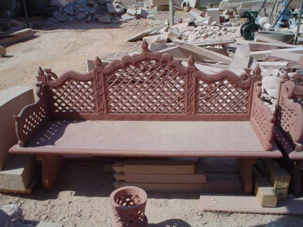 outdoor Stone Bench;