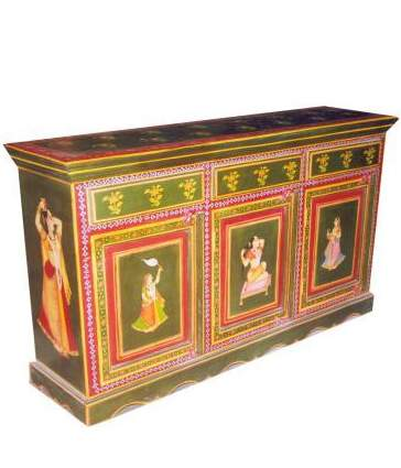Hand Painted Sideboard;