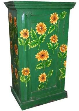 Hand Painted Cabinet;